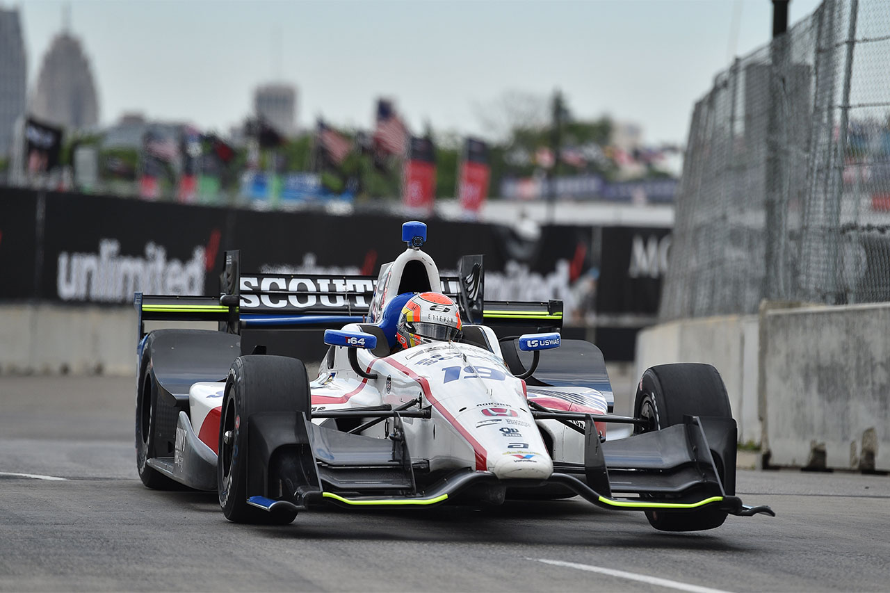 Ed Jones Indycar Detroit 2017 6