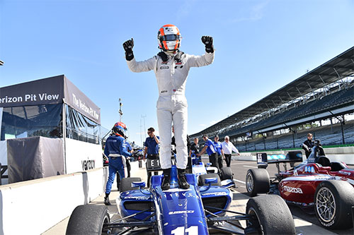 Jones sprints clear in standings with Indianapolis GP glory